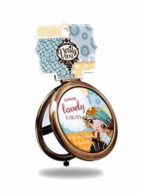 Verity Rose Compact Mirror  Standard + Magnifying - Looking Lovely Today - £2.99