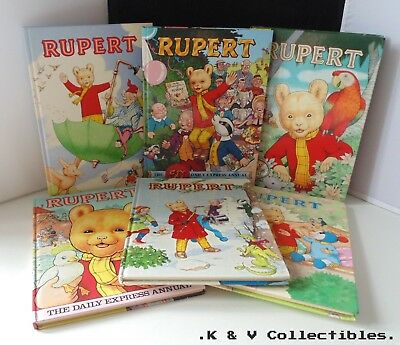 Rupert annuals (1990's) x 6 GC & CHECKED