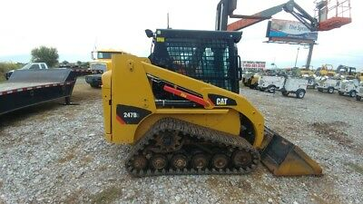 2015 Caterpillar 247 b3  247b3 Cab A/c Track Skid Steer Loader Hyd Quick Attach