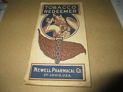 1917 TOBACCO REDEEMER NEWELL PHARMACAL Co. w/LETTER STOP SMOKING REMEDY PLAN