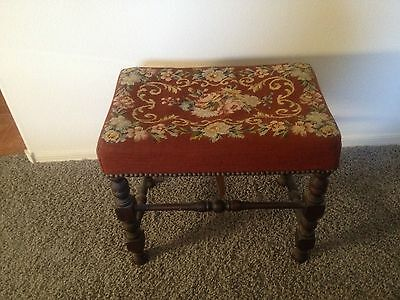 Wood and Needlepoint BENCH