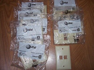 Eight (8) AT&T  2 port flush face plates