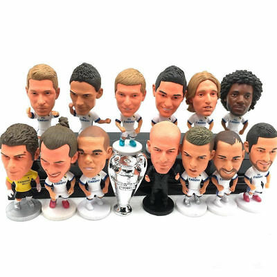 """Soccer Real Madrid Football Player 2.5"""" Action Doll Toy Figure season Goal Field"""