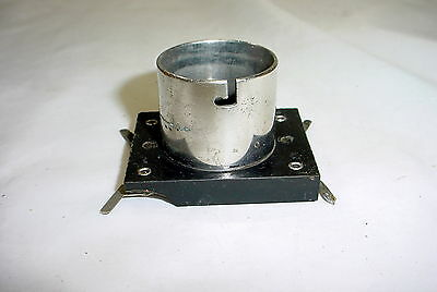 Vintage 1920-30's Surface Mount 4 Pin Tube Socket - brass nickel plated collar