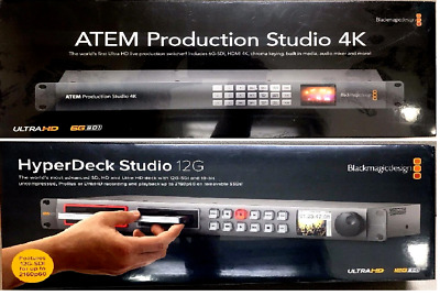 Blackmagic Design ATEM Production Studio 4K Live Switcher & HyperDeck Studio 12G
