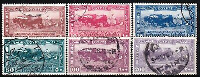 EGYPT - SCOTT 125 - 127 - COMPLETE CAIRO 1st DAY CANCELLATION SET - LOOK!