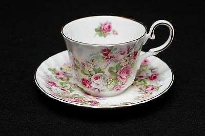 Royal Patrician Flower Floral Teacup and Saucer Bone China Staffordshire England