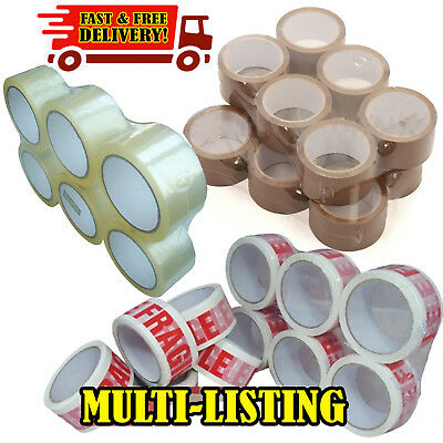 LONG LENGTH TAPE STRONG CLEAR / BROWN / FRAGILE 48mm x 50M PACKING PARCEL TAPE