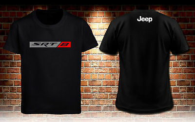 Jeep Srt 8 Grand Cherokee W/ SRT8 Men's Black T-shirt S to 3XL