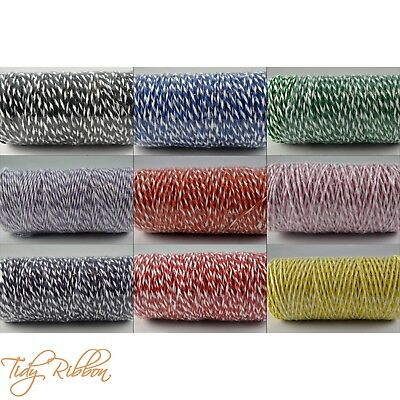 Bakers Twine 2m 5m 10m Crafts 1mm String Gift Wrap Tags Cotton Party Ribbon