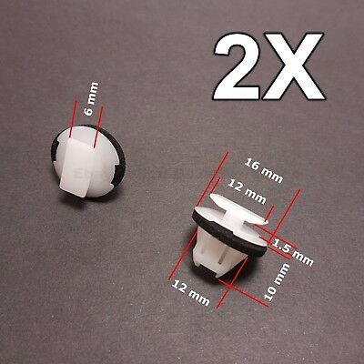 2x for Nissan X-Trail & Juke wheel arch surround trim clip wing moulding clip