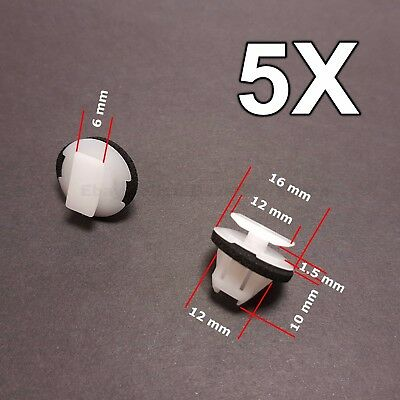 5x for Nissan X-Trail & Juke wheel arch surround trim clip wing moulding clip