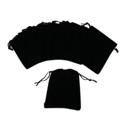 Soft Smooth Black Velvet Drawstring Pouches Jewellery Wedding Pouch Bag S/M/L/XL
