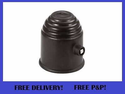 BLACK Plastic Lockable Tow Ball Cover Cap 50mm