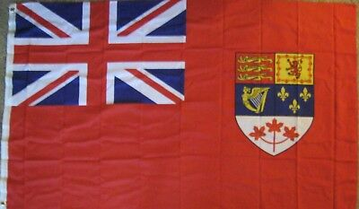 New 3' x 5' Old Canada Flag (1957-1965) Canadian Red Ensign.Free Ship in Canada!