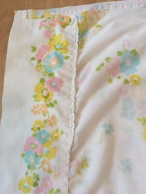 Vintage Fashion Manor Pennys Florals Twin Flat Sheet Percale Pillowcase
