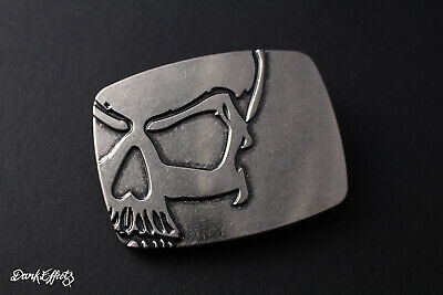 Rectangular Vintage Half Skull Metal Belt Buckle