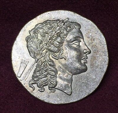 Ancient Coin Greek Silver Tetradrachm Coin from Myrina Aeolis AD partial Silver