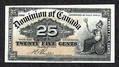 1900 Twenty-Five Cents DC-15b EF-AU ** BEAUTIFUL & SCARCE Dominion of Canada 25¢