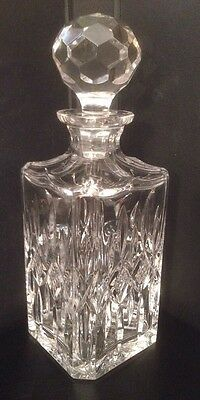 Crystal Whiskey Decanter Heavy, Wine, Gin, Brandy, Liqueur, Sherry, Square