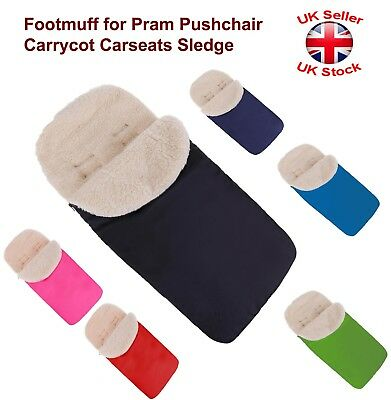 Universal Sheep Wool Footmuff Cosy Toes Carrycot Buggy Pushchair Stroller Pram