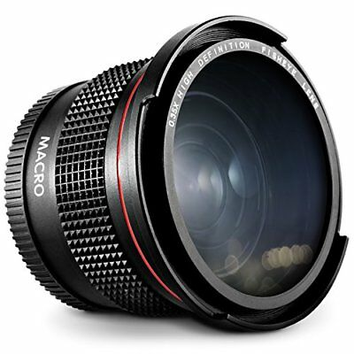 58MM Wide Angle Fisheye Macro Lens for Canon EF-S-18-250mm f/4-5.6 50mm f/1.4