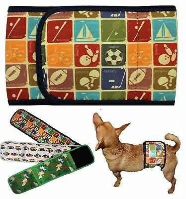 Dog BELLY BAND Male Diaper Wrap Reusable Washable NEOPRENE Small Large XXS-XXXL