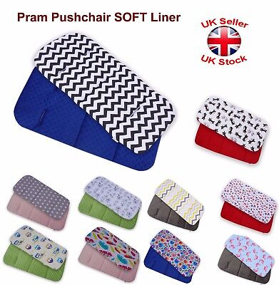Baby PRAM CARRYCOT Pushchair Soft COTTON MATTRESS Liner INSERT