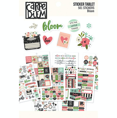 Simple Stories - Bloom - A5 Sticker Book Sized for A5 Planners 501 Stickers