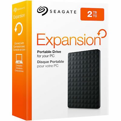 SEAGATE 2 TB Expansion Portable Externe USB Festplatte 2.5 Zoll HDD NEU und OVP!