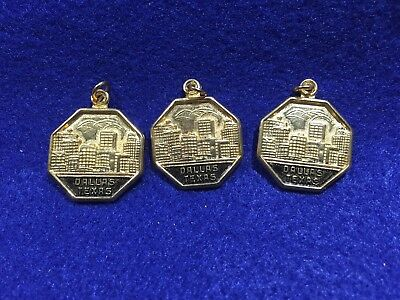 Lot of 3 Vintage Dallas Texas Charms
