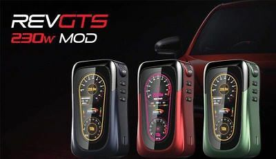 REV GTS 230W Box Mod NEW Stock For Vape/Vaping E-Cig All Colours