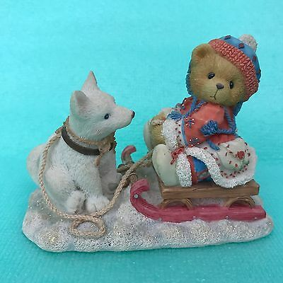 Cherished Teddies Erica 176028 Friends Are Always Pulling for You Dog Puppy Sled