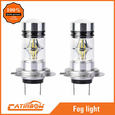 2x H7 6000K Super White 100W Cree LED High Power Fog Lights Lamps Driving Bulb