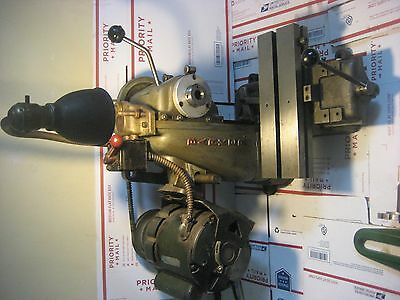 barker mill model pm serial # 1543, with arm support, and 3c draw bar, tools