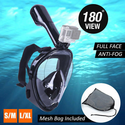 Easybreath Snorkeling Mask Full Face Snorkel Diving Goggles Set L/XL