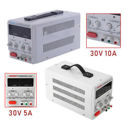 30V 5A/10A Adjustable DC Power Supply Dual Digital FOR Lab Test EO