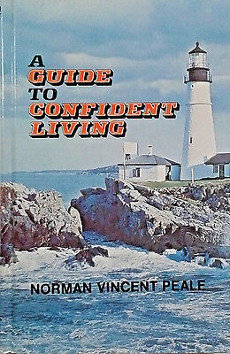 Hardcover Book A Guide To Confident Living By Norman Vincent Peale 1977