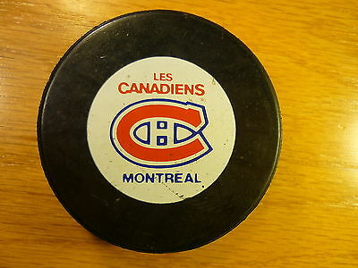NHL Montreal Canadiens Non-Approved Logo Official Game Hockey Puck Collect Pucks