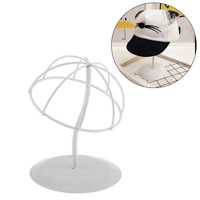 FX- White Stable Durable Iron Wig Hair Rack Hat Holder Display Stand S/M/L Serap