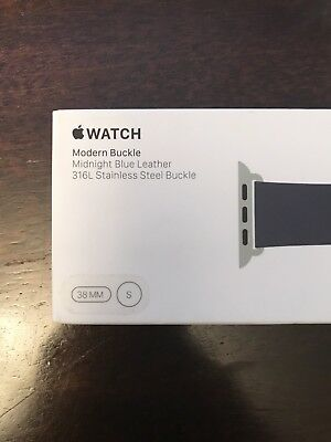 Midnight Blue Modern Buckle 38mm Apple Watch Series 3, Series 2, Series 1 ~Small