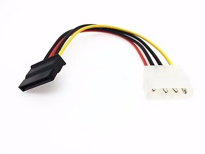 1X IDE/Molex/4-pin to SATA Power 15-pin Connector Converter Adapter Cable