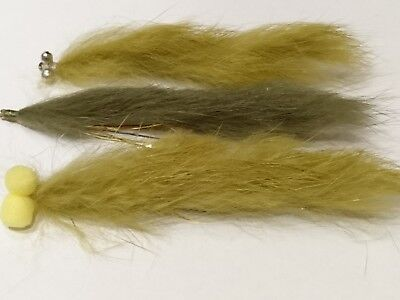 "Trout Flies by Iain Barr Fly Fishing 3  Rutland 3/"" Natural Rabbit SNAKE LURES"