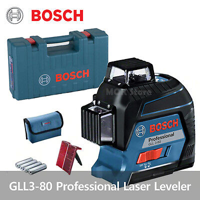 new bosch gll3 80 360 degree multi line pro laser level cad picclick ca. Black Bedroom Furniture Sets. Home Design Ideas