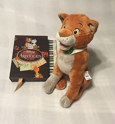 "18"" NEW TAGS Disney Store O'Malley OMalley Aristocats Stuffed Plush DVD Gift Set"