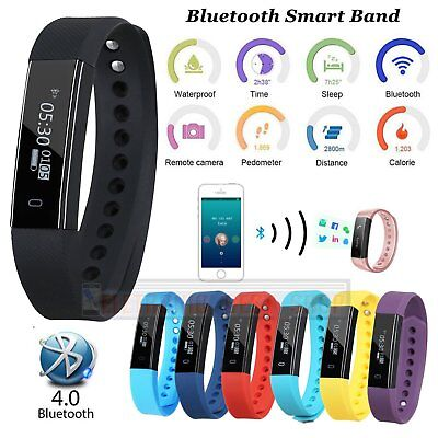 ID115 Bluetooth Smart Watch Fitness Sleep Tracker Bracelet Wristband Passometer