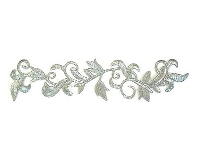 Silver Applique Iron On Embroidery #52 Aust Seller Dance Stage Costume Trim