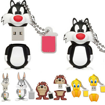 Flash Cartoon U Disk 8GB 16GB 32GB 64G USB 2.0 Gift Pen Drive Memory Stick