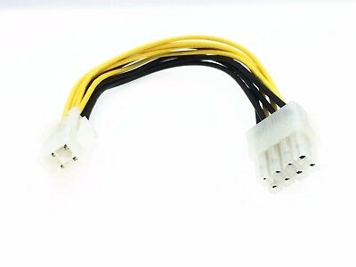 1PCS 4 Pin 4-PIN ATX Male to 8 Pin 8-PIN EPS Female Power Adapter Cable