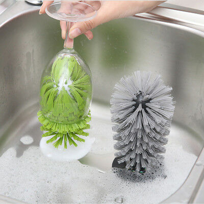 2017 New Sink Suction Cup Base Cleaning Bottle Glass Brush Wine Cup Brush